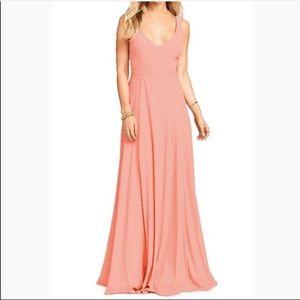 Maxi peach dress SMYMM Show Me Your Mumu Jenn  L